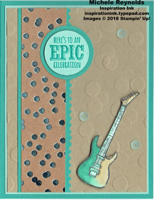 Epic celebrations guitar dots watermark