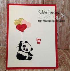 Z panda valentines card