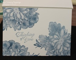 Heartfelt blooms note card mono 1a
