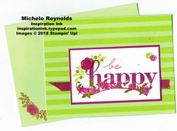 Happy wishes tutti frutti flowers watermark