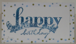 Narrow note card happy wishes