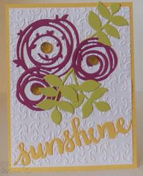 Sunshine wishes garden trellis swirly scribbles
