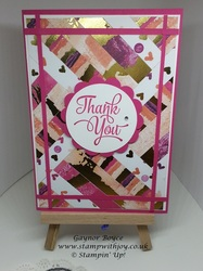 Using up your scraps to make a beautiful thank you card gaynor boyce stampin  up  stamp with joy