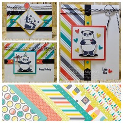 Party pandas card set