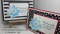 Petal potpourri stamp set 15 cards in 45 minutes gaynor boyce stamp with joy stampin  up