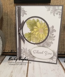 Heartfelt blooms swap card