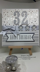 Springtime_foils_30th_birthday_card_gaynor_boyce_