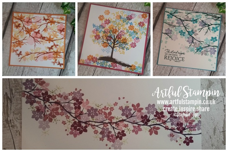 Artful stampin up tree branch flowers sheltering colorful seasons buy online blog trio