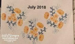 Artful stampin up calendar project stamping july buy online blog