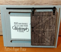 Barn door  single door  card feb 2018