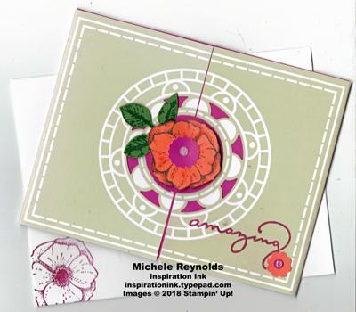 Amazing you medallion amazing flower watermark