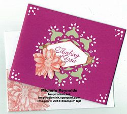 Heartfelt blooms medallion flower thoughts watermark