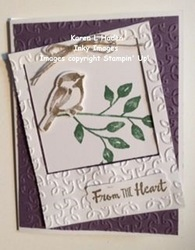 From the heart bird card 2