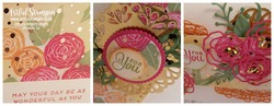 Artful stampin up springtime foils sweet soiree card tutorial blog closeup
