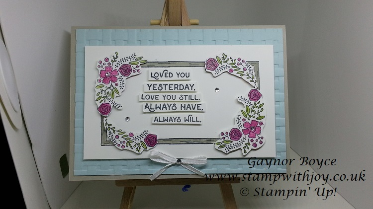 Love you still card using stampin  up  products stamp with joy gaynor boyce