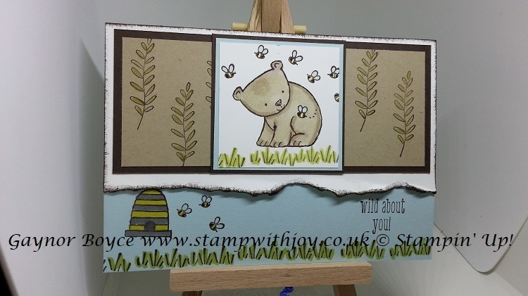 Wild about you card stampin  up  gaynor boyce stamp with joy x x