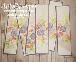 Artful stampin up osww bookmarks one sheet wonder cake soiree blog 1