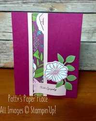 Recessed panel card with sympathy