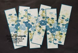Artful stampin osww field of flowers bookmarks blog love you lots bookmarks