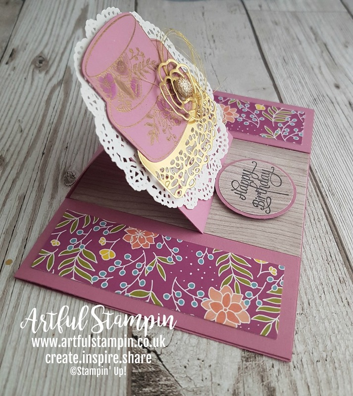 Artful stampin up easel card making shop sweet soiree shabby chic blog easy