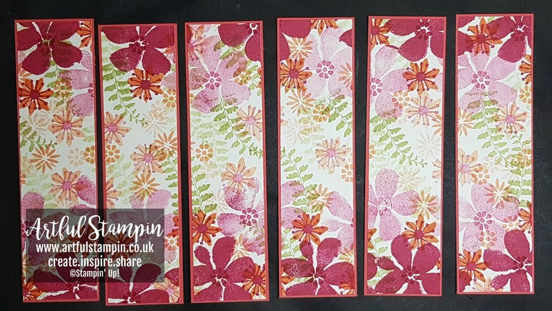 Artful stampin up osww bookmarks one sheet wonder blooms and wishes blog
