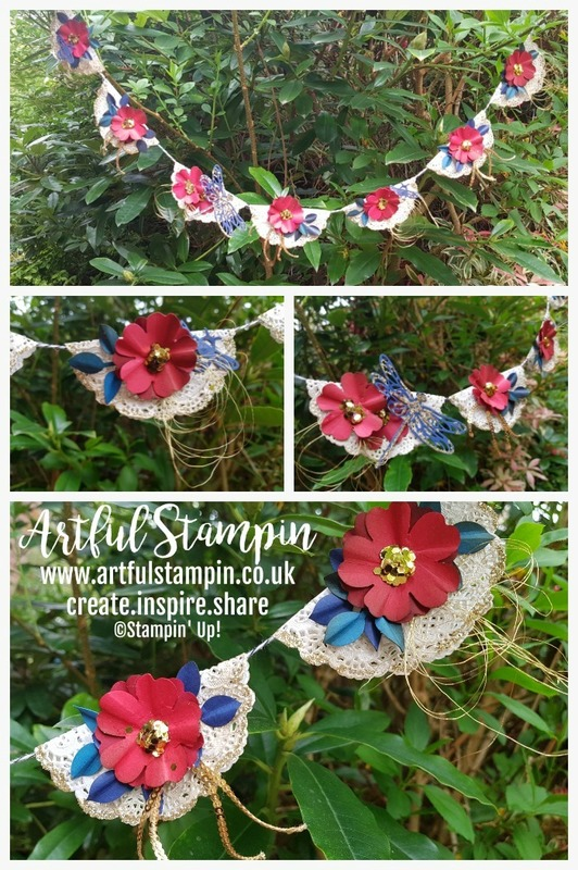 Artful stampin up bunting royal wedding vintage blog