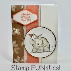 Animal outing together card