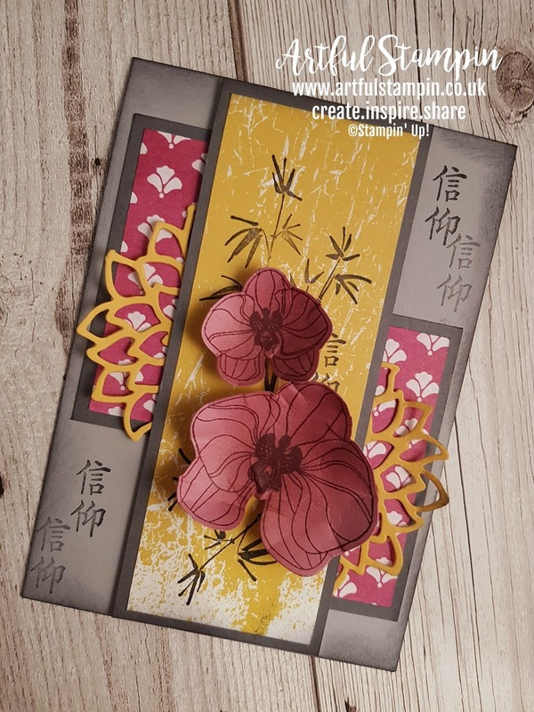 Artful stampin up uk climbing orchid artistically asian card youtube tutorial blog