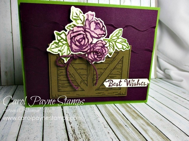 Stampin up barn door petal palette carolpaynestamps1