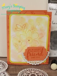 May love what you do lovely floral card