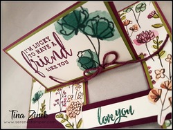 Share what you love card serene stamper