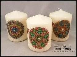 Painted with love candle tina zinck
