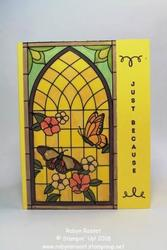 Stampin up vertical greetings painted glasstall