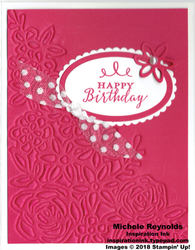Detailed with love embossed bouquet birthday watermark