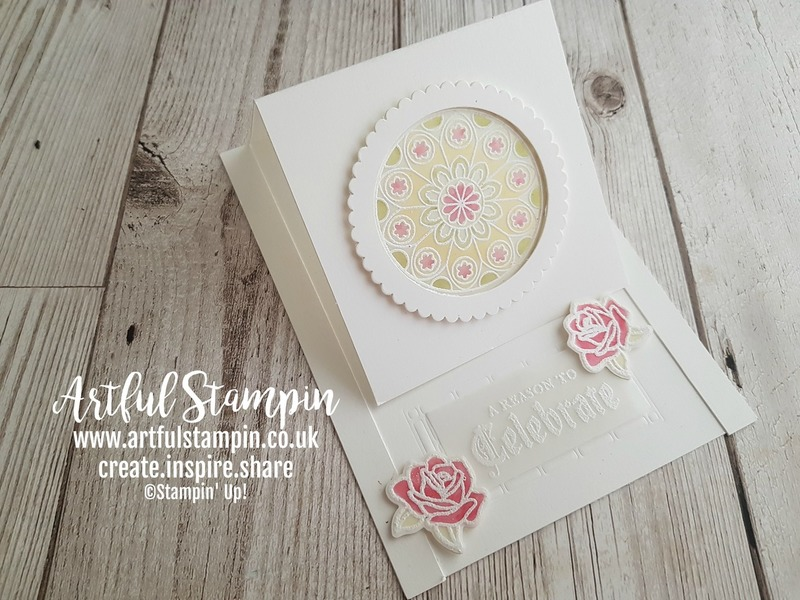 Artful stampin up painted window stained glass easel card making products uk blog