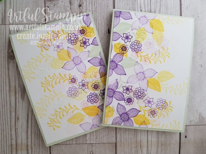 Artful stampin up uk pop of petals punch flower  9