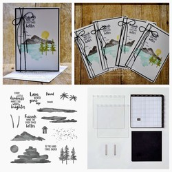 Waterfront friend note cards set