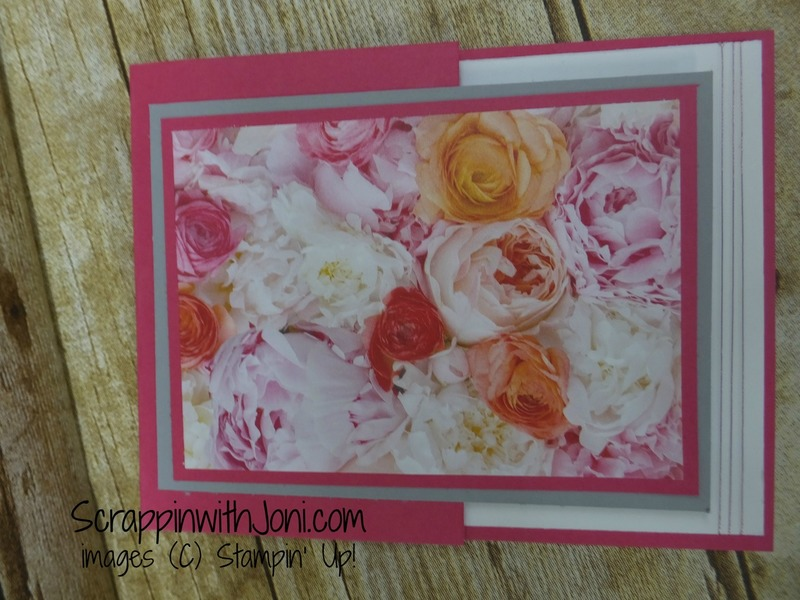 Side fold flower card