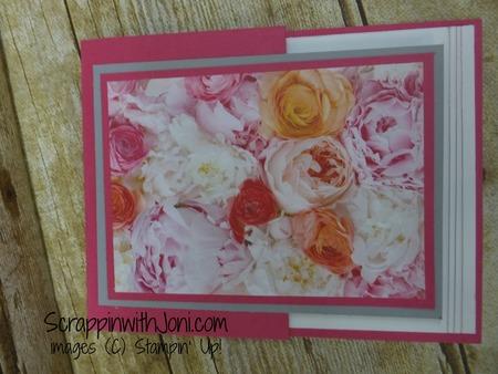 Side fold flower card