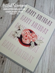 Artful stampin up uk perennial ombre birthday card making easy stamparatus blog