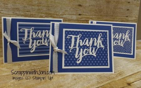 Thank you in blueberry bushel