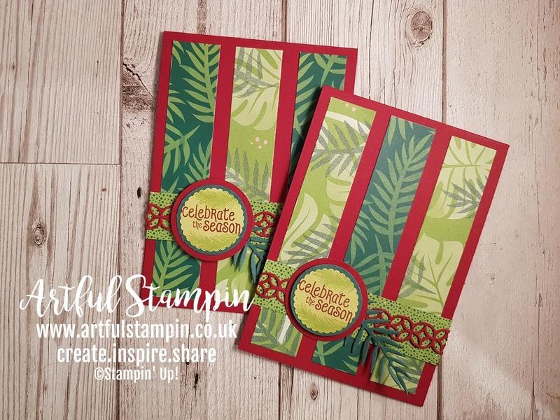 Christmas challenge stampathon 2018 card sketch artful stampin up making