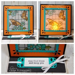 Graceful glass tea light easel card 2