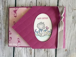 Hello kitty fun fold card using stampin up tea room dsp by kate morgan australia