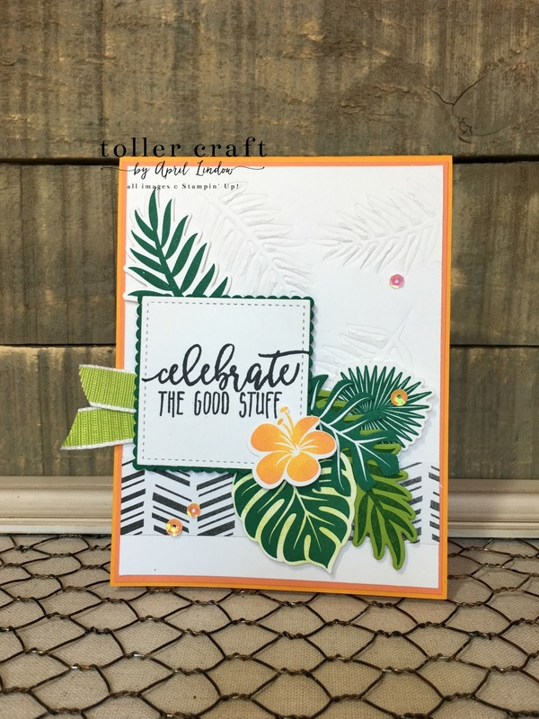 Embossed tropical chic