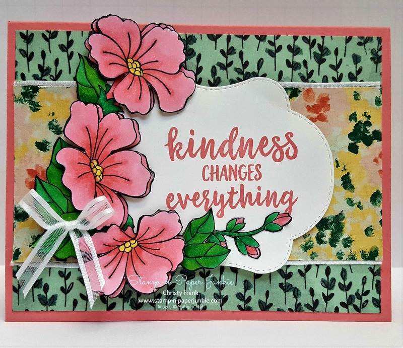 Blended seasons floral card