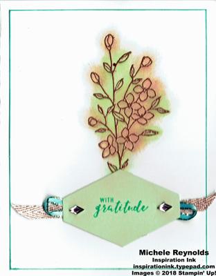 Touches of texture copper flower gratitude watermark