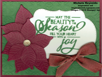 Merry christmas to all poinsettia label watermark