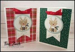 Foxy friends reindeer serene stamper