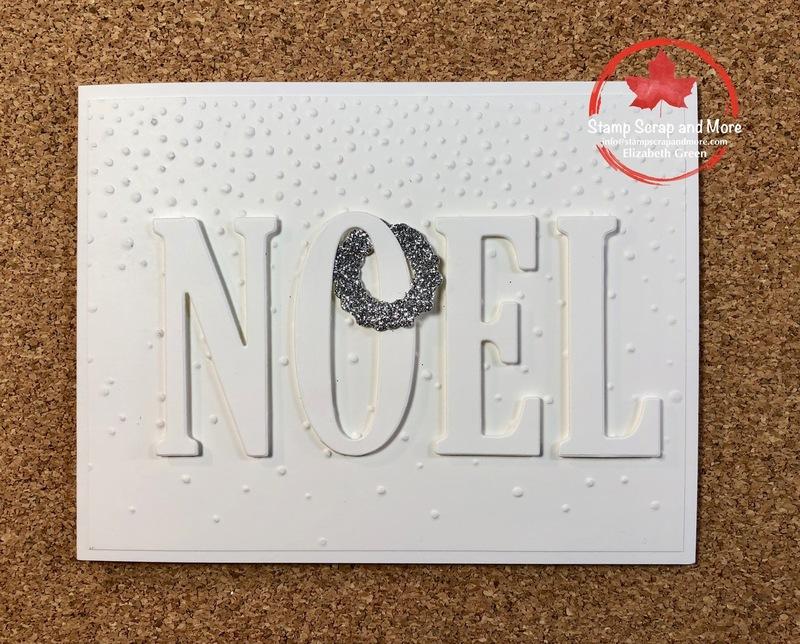 Large Letter Framelits Christmas Card | TheseAreMyStamps
